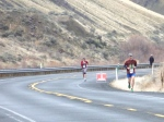 Coming around the final bend at Yakima photo by my Dad