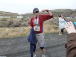 Me being a complete dork after finishing the Yakima River Canyon Marathon Photo by my Dad